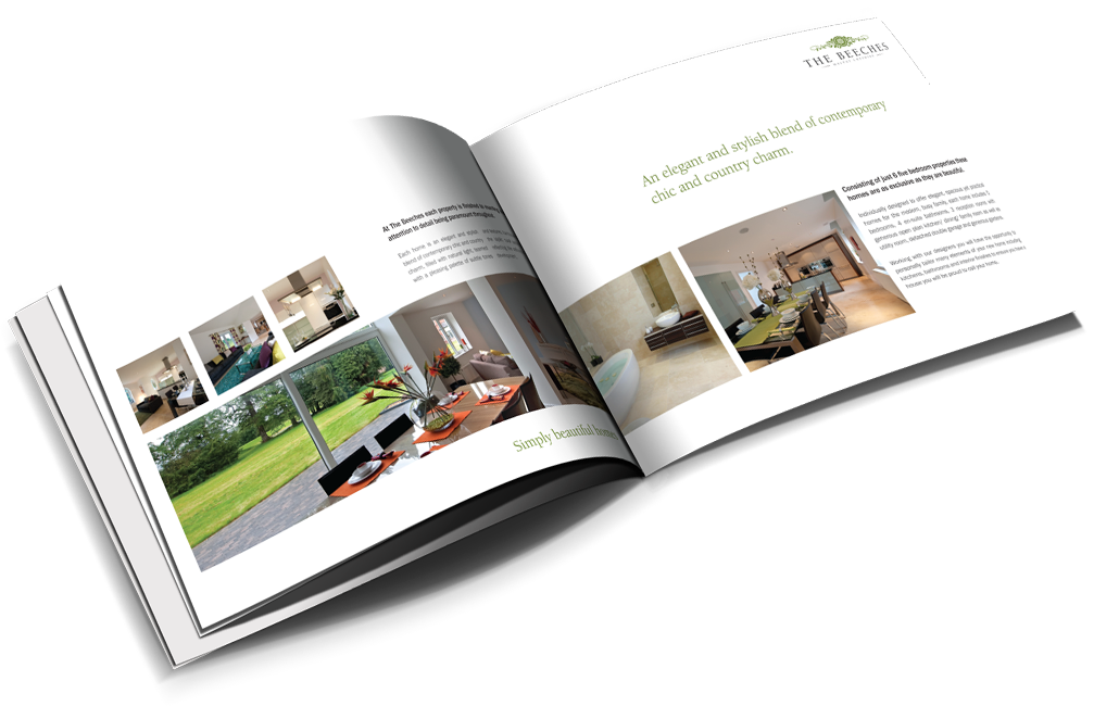 classy brochure design - property brochure design for new homes developers agents