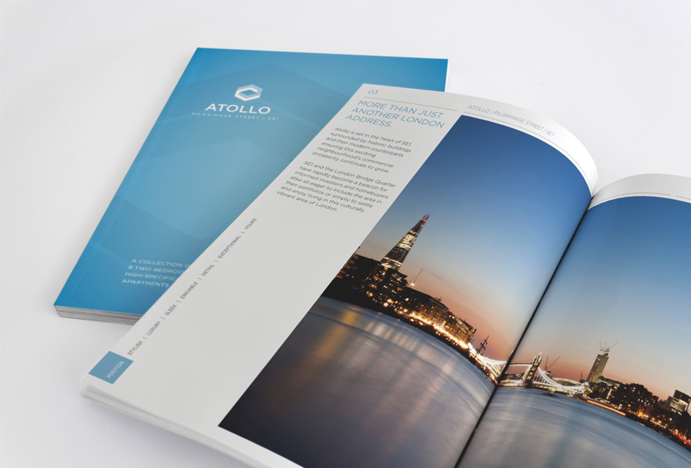 luxury london property brochure design