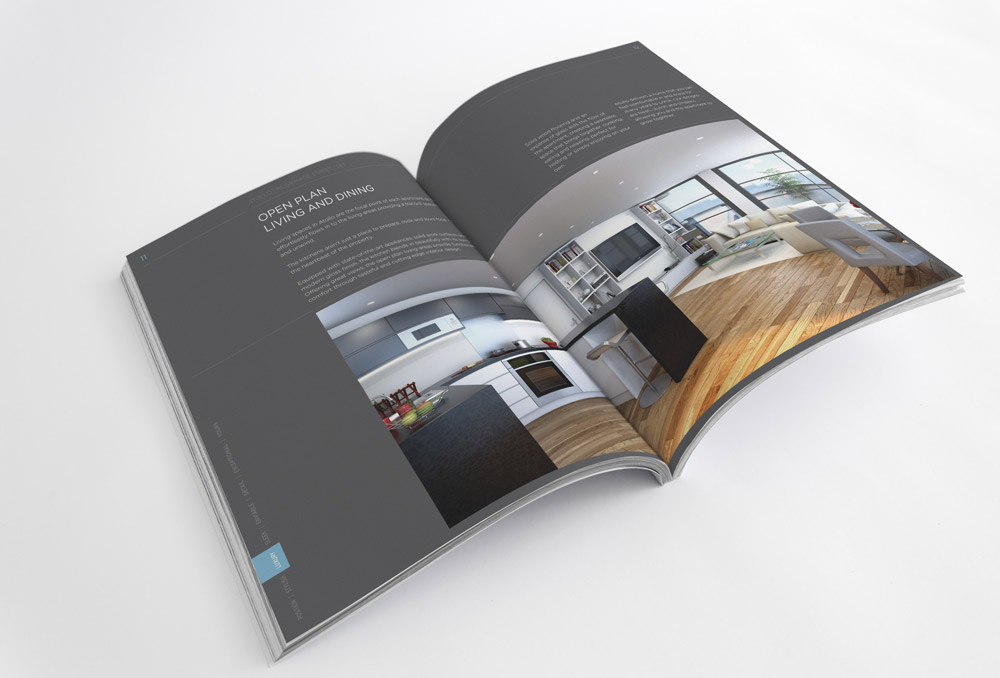 Dark Brochure Design Idea