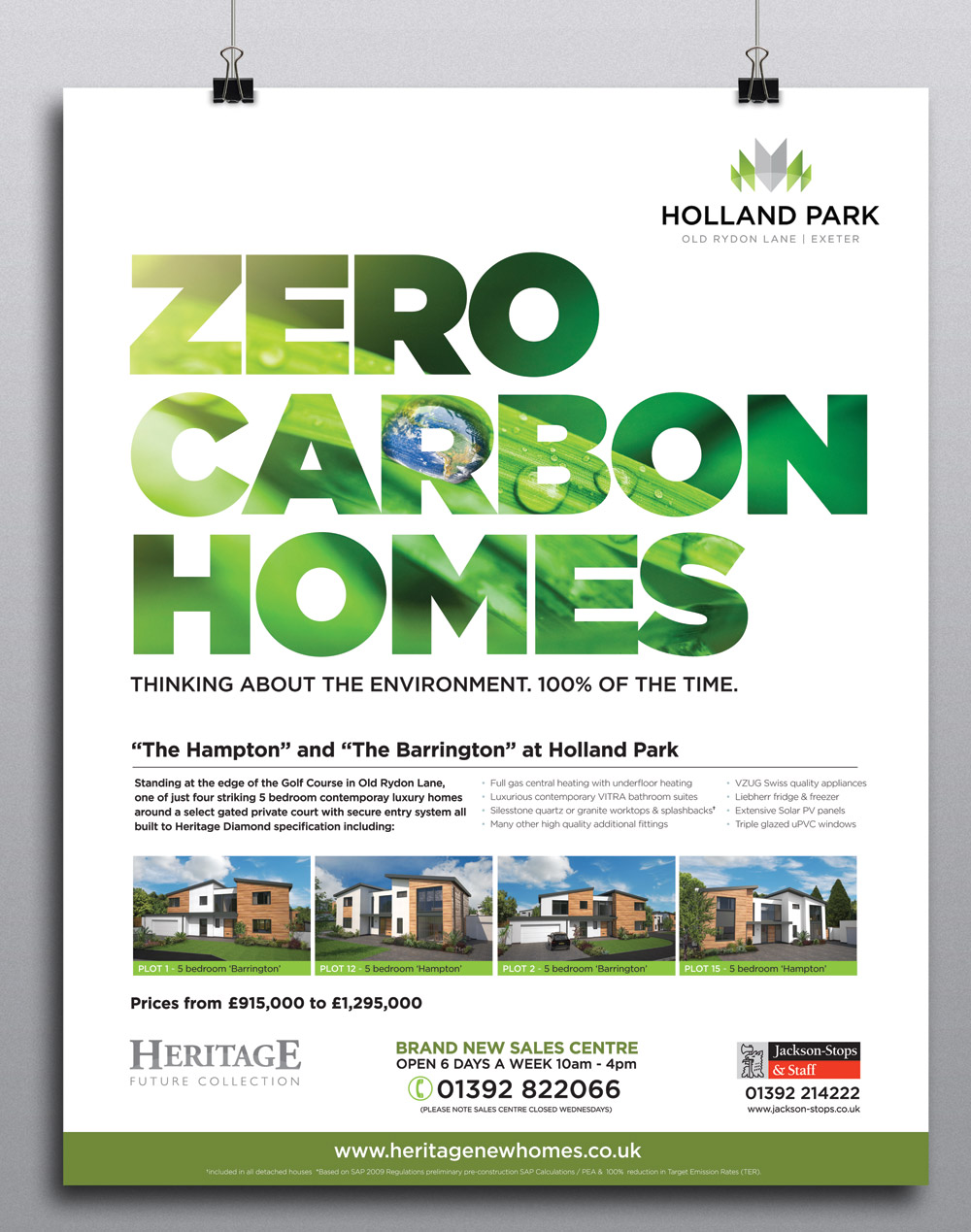 Zero carbon homes advert property development advertisment for Advertising companies uk