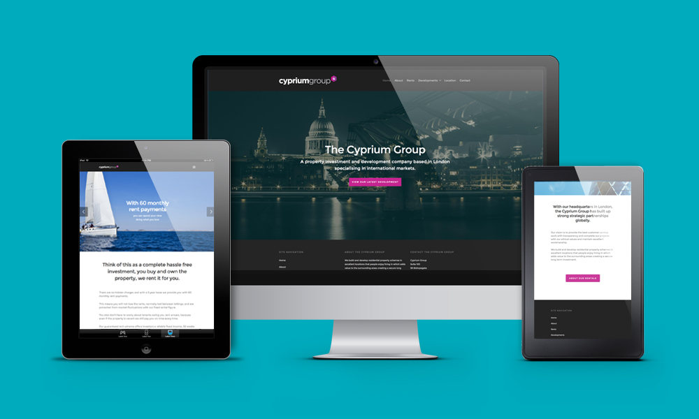 London Investment Firm Web Design and Logo Design