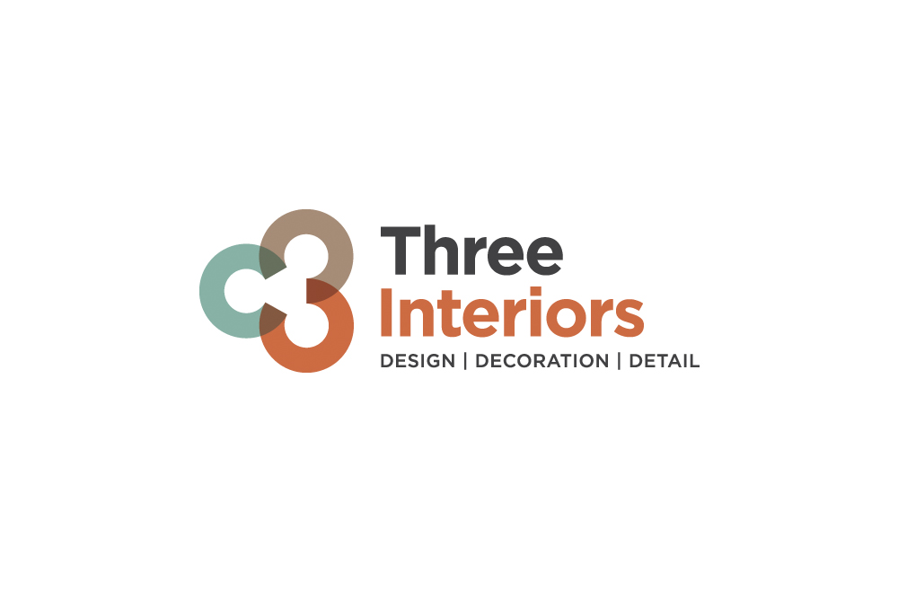three interiors interior design company logo case study