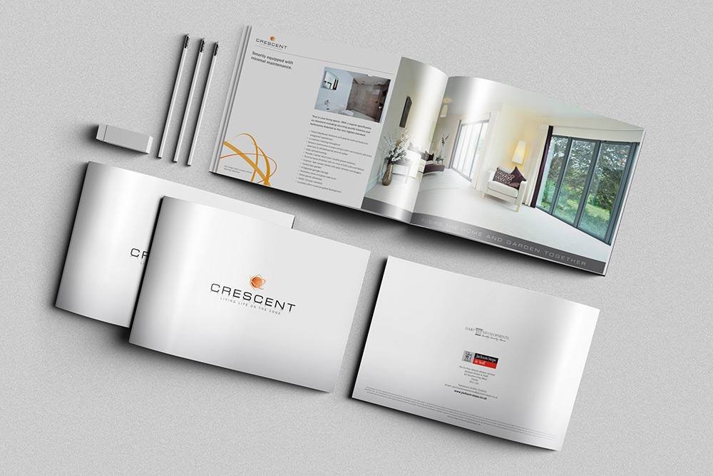 A4 Landscape Property Brochure Example