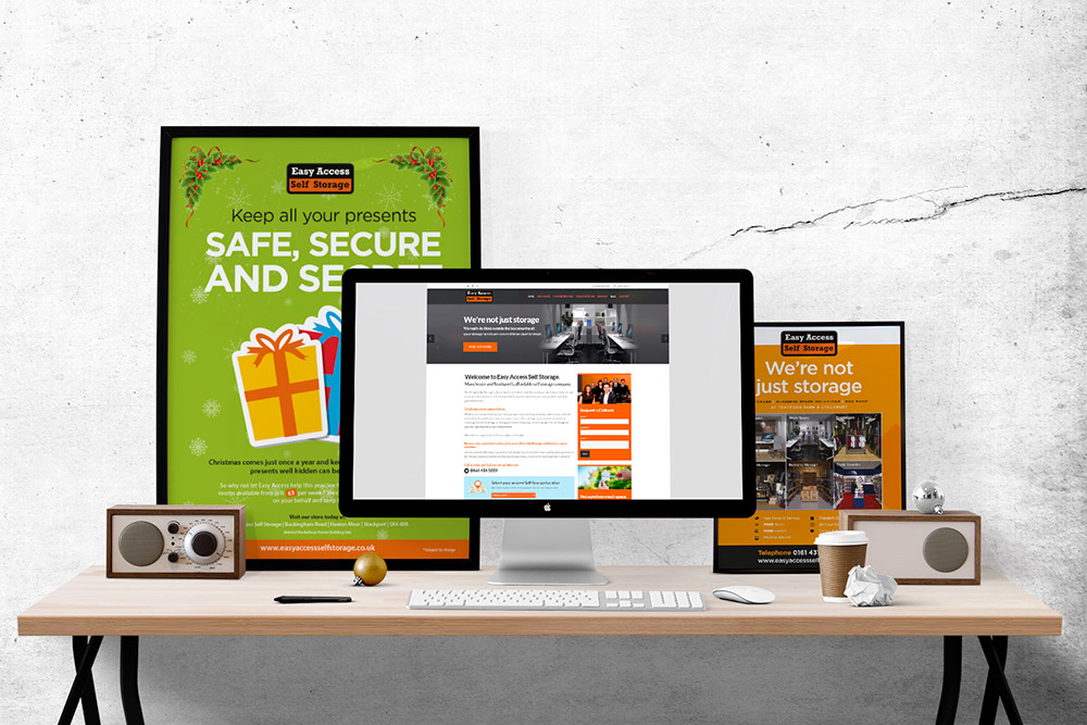 easy access self storage web design
