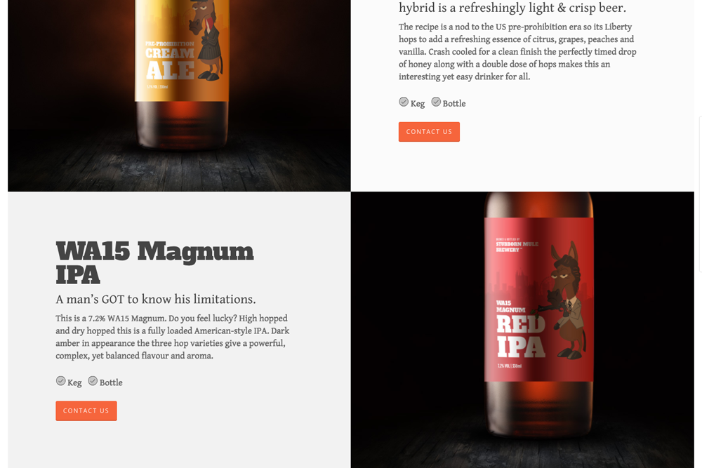 Brewery Web Design Detail