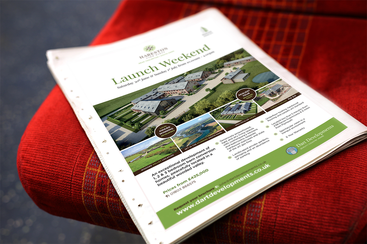 Leaflet and advert design