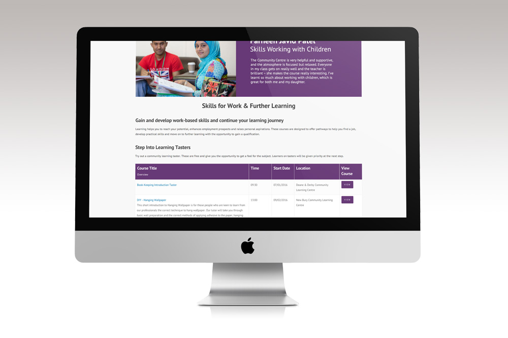 educational website design example