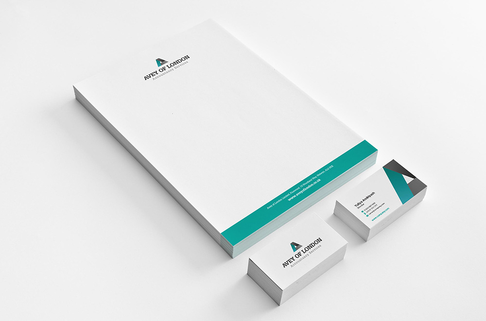 stationery design for accountant