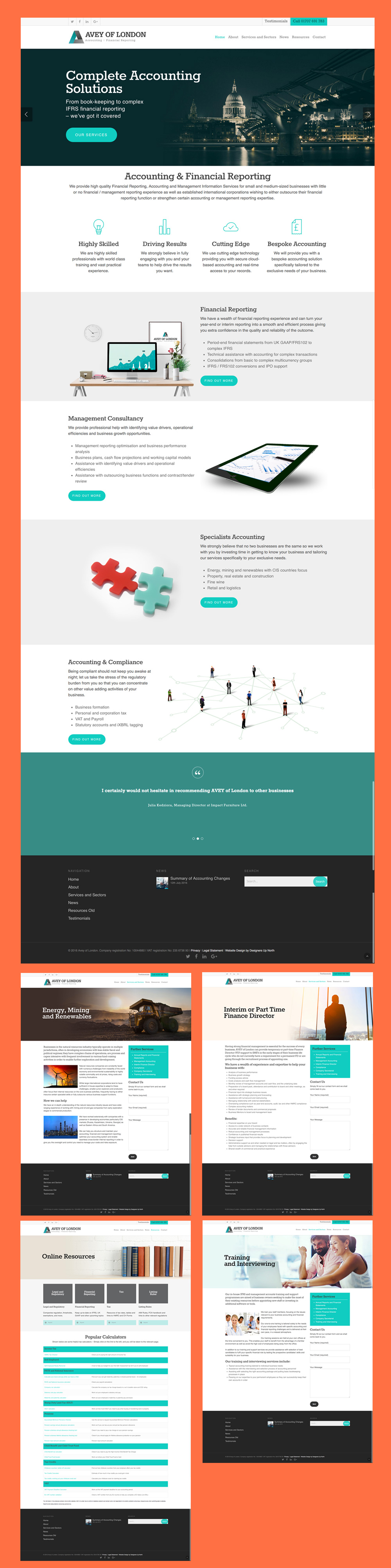 financial accountant web design