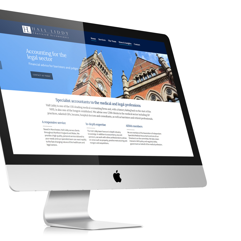 Medical Accountant Website Design For Hall Liddy Manchester