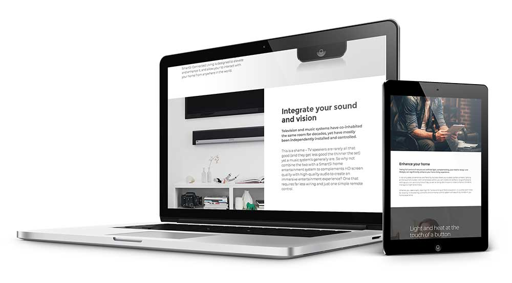 web design smart home installer
