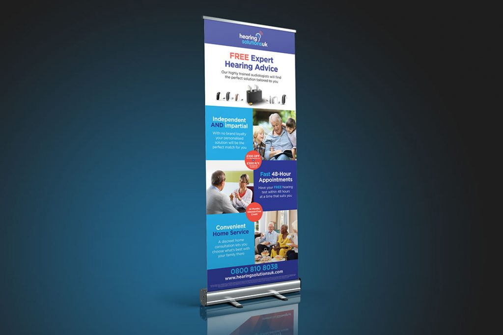 hearing pop up display example